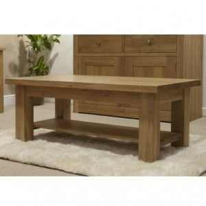 Homestyle Torino Solid Oak Furniture 4x2 Coffee Table
